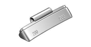 Masses d'équilibrage sans plomb à frapper 10 x 75g pour poids lourds.